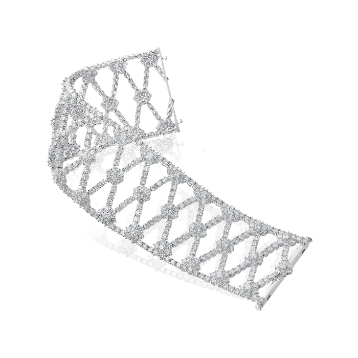 Diamond lattice bracelet/18W